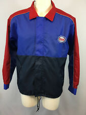 Vintage ESSO Uniform Work Jacket Windbreaker Size L Exxon Mobil Gasoline Gas Oil