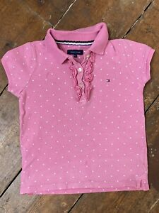 Tommy Hilfiger Baby Girls Pink Polo Shirt 92 18-24 Months