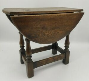 Vintage Small Drop Leaf Wooden Coffee Table