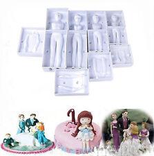 4pcs/set 3D Family People Body Cake Mold Fondant Modelling Sugarcraft Decor Tool