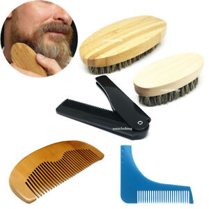 Premium Mens Boar Bristle Beard Brush Moustache Mens Grooming Kit Valentines Day