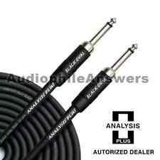 Analysis Plus Black Oval Instrument Cable with Straight Standard Plugs 10ft