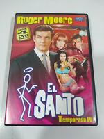 El Santo Roger Moore Quarta Stagione 4 Completa - 4 X DVD Spagnolo Inglese