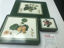 Pimpernel Hooker Fruits 6 Place Mats 2 Extra Large Mats 6 Coasters Cork Backed