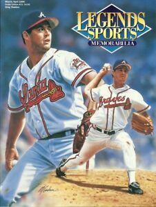 1996 H73 Greg Maddux Atlanta Braves Legends Sports Memorabilia Magazine
