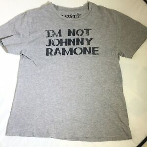 I'm Not Johnny Ramone Large T-Shirt Distressed Spell Out Lost Property Brand