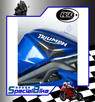 CARBON FIBRE FUEL TANK SLIDERS R&G TRIUMPH DAYTONA 675 / R 2006 > 2012 COVERS