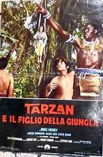 fotobusta lobby card TARZAN E IL FIGLIO DELLA GIUNGLA STEPHEN LORD MIKE HENRY