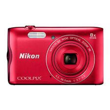 Camara fotos Nikon Coolpix A300 rojo