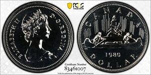 GEM: 1980 nickel dollar PCGS Gold Shield SP-67