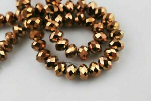 100Pcs Spacer Loose U Faceted Rondelle Glass Finding 6x4mm Choose Beads 110Color