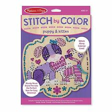 Melissa And Doug Stitch By Color Puppy And Kitten Craft Set NEW Traditional Toys