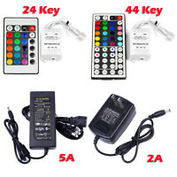 12V 2A / 5A DC Power Supply Adapter Transformer LED 24/44 keys Remote Controller