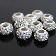 5pcs Clay Crystal Glass Rhinestone Disco Ball Loose Beads For Shamballa Bracelet