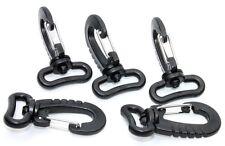 Karabinerhaken mit Drehwirbel. 5 Stück Kunststoff für 25 Gurt/Band geeignet