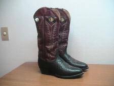 Mens 9.5 D Tony Lama Black BUFFALO BISON Buckaroo TALL Western Cowboy Boots