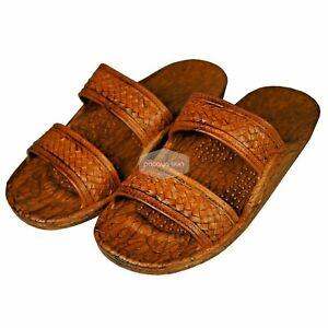 Pali Hawaii Unisex Adult Classic Jandals Sandals 7 Women / 6 Men  Light Brown