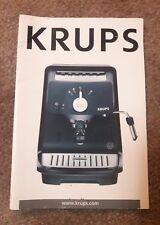 Krups XP4000 XP4020 Owners Instruction Manual Espresso Machine Service Guide