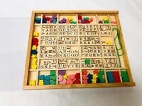 Melissa and Doug Wood Stringing Beads Alphabet Letters Homeschool MISSING PIECES