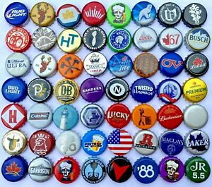 [[Mix Beer Caps]] // (100) Mixed Beer Bottle Caps, Great Colors, Good Assortment