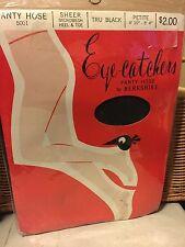 Stunning! Very Vintage Eye Catchers nude tru black petite pantyhose