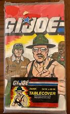 """GI Joe tablecloth paper tablecover 54""""x88"""" 1986 sealed Sgt Slaughter Hawk table"""