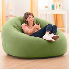 Poltrona Gonfiabile Intex Club Chair in PVC Floccato 124x119x76cm Verde Casa