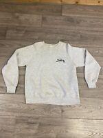 Vintage Jerzees Crewneck Sweatshirt Size Large White Stowe VT