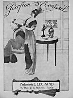 PUBLICITÉ DE PRESSE 1911 PARFUM D'ÉVENTAIL PARFUMERIE L.LEGRAND - ADVERTISING