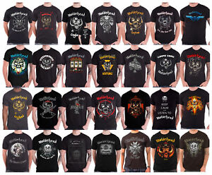 Official Motorhead T Shirt England Warpig Band Logo Lemmy Ace of Spades mens