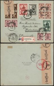 Belgium WWII 1942 - Registered Cover Antwerp to Denmark - Censor C79