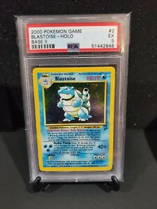 2000 Pokemon Base Set 2 #2 Blastoise Holo PSA 5 Excellent Graded Card