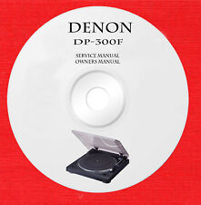 Service owner manuals for Denon DP-300F turntable on 1 DVD in pdf format