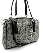 GUESS Cresswell Signature G Logo Black Gray SHOPPER Shoulder Bag SV708106