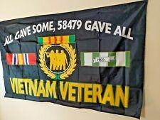 "Vietnam War Veteran flag ""All Gave Some 58479 Gave All"" 3x5 Free Shp"
