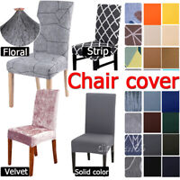 Luxury Stretch Dining Chair Cover Slipcover Wedding Banquet Seat Cover Removable