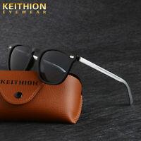 KEITHION Polarized Sunglasses Mens Square Frame Aluminium Legs Driving Eyewear