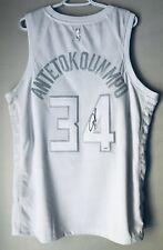 Giannis Antetokounmpo Autograph Nike XL Bucks NBA MVP Signed Swingman Jersey JSA