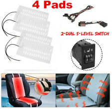 Universal 2 Seats Heated Seat Heater Kit 12V Carbon Fiber 2 Dial 5-level Switch