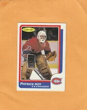 PATRICK ROY NO:53 ROOKIE in O PEE CHEE 1986-87 Ex cond+  see scan