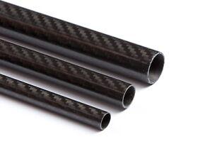 CFK Rohr Ø16-40mm 1000mm 2000mm 3K Carbon glänzend Kohlefaser Rundrohr PrePreg