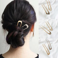 Simple U Shape Hair Clips for Women Girl Metal Gold Hairpin Hair Accessories