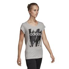Adidas Mujer Camiseta Lifestyle Esencial Estampado Entrenamiento Gimnasio Moda