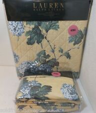 NEW Ralph Lauren KING Quilt &(2) King Shams Yellow/Blue Multi Floral PRETTY SET!
