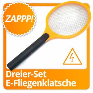3x Set elektrische Fliegenklatsche Fliegenfalle Mücken-Falle Insektenvernichter