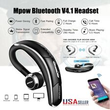 Mpow V4.1 Bluetooth Headset Wireless Headphones Earpiece with Microphone Silver