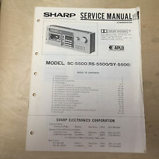 Original Sharp Service Manual for the SC-5500 Cassette Deck Tape Player