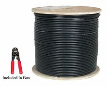 CAT6 1000FT Outdoor UTP Waterproof Ethernet Network Cable Black - Bulk Pull Box