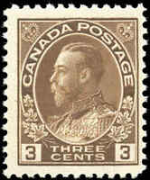 Mint NH 1918 Canada F+ Scott #108 King George V Admiral Stamp