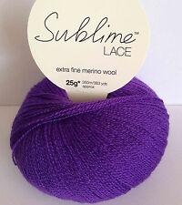 NWT 500g Sublime chunky merino tweed violet shade 0236 knitting yarn